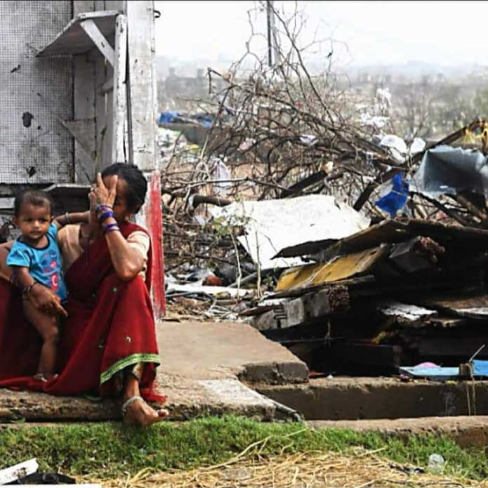 Help relief efforts for 300 families affected by Cyclone Fani